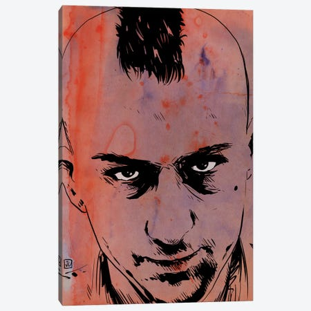 Taxi Driver: Travis Bickle Canvas Print #JCR68} by Giuseppe Cristiano Canvas Wall Art