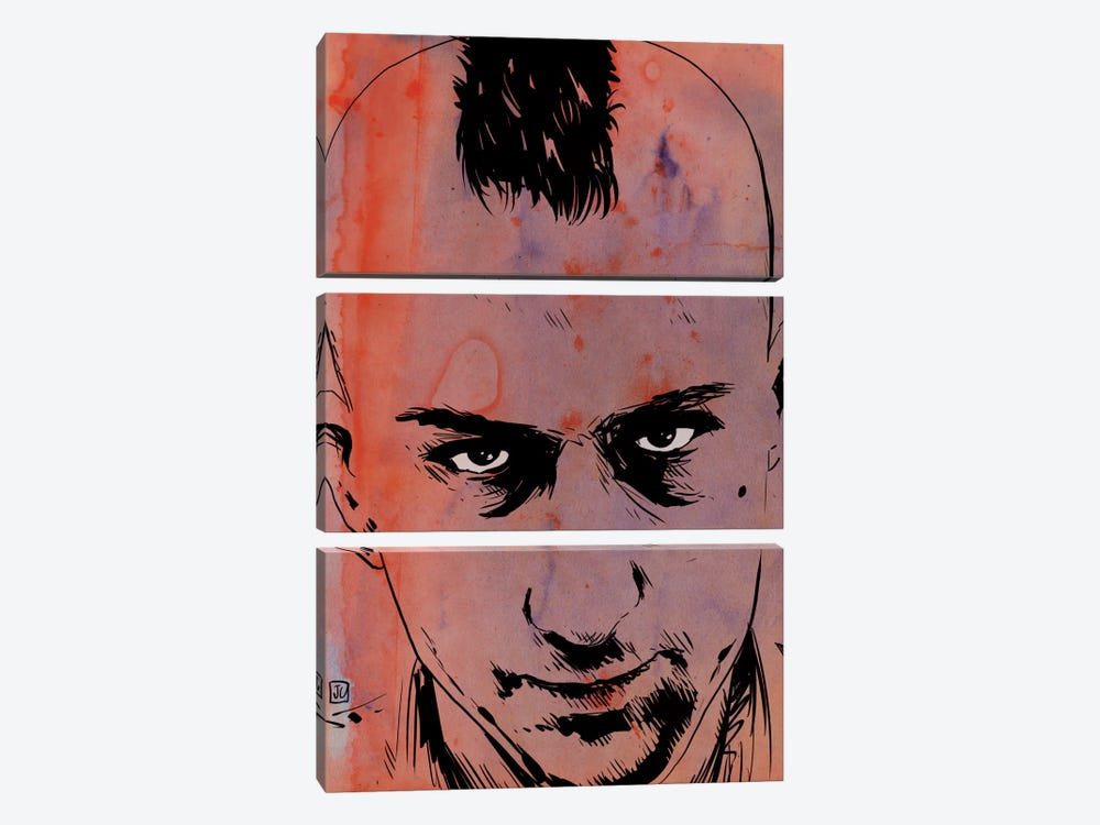 Taxi Driver: Travis Bickle by Giuseppe Cristiano 3-piece Canvas Art Print