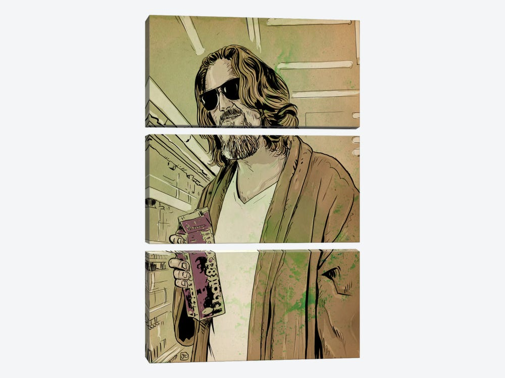 "The Big Lebowski: Jeffrey ""The Dude"" Lebowski by Giuseppe Cristiano 3-piece Canvas Artwork"