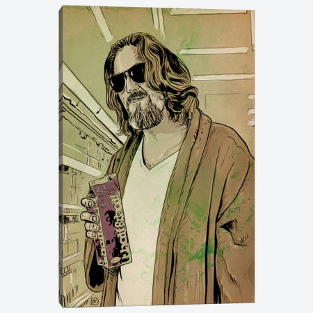 "The Big Lebowski: Jeffrey ""The Dude"" Lebowski Canvas Print #JCR69} by Giuseppe Cristiano Canvas Art"