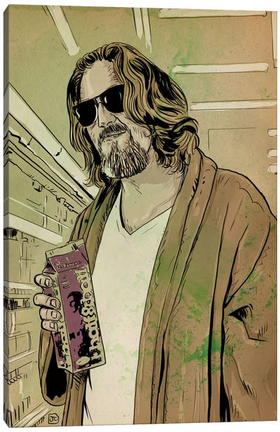 "The Big Lebowski: Jeffrey ""The Dude"" Lebowski Canvas Print #JCR69"