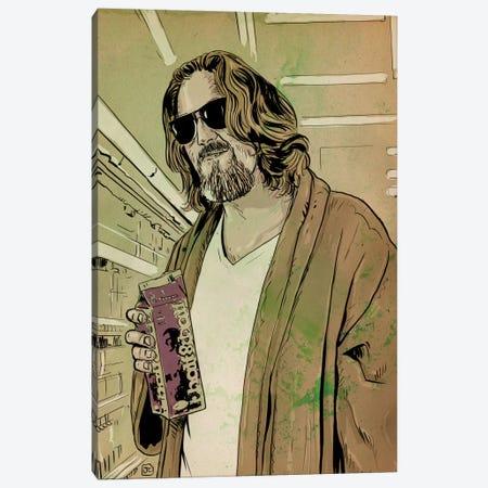 "The Big Lebowski: Jeffrey ""The Dude"" Lebowski Canvas Print #JCR69} by Giuseppe Cristiano Canvas Art"