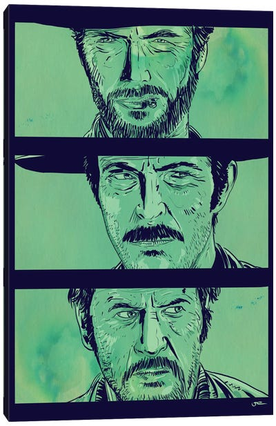 The Good, the Bad and the Ugly by Giuseppe Cristiano Canvas Art Print