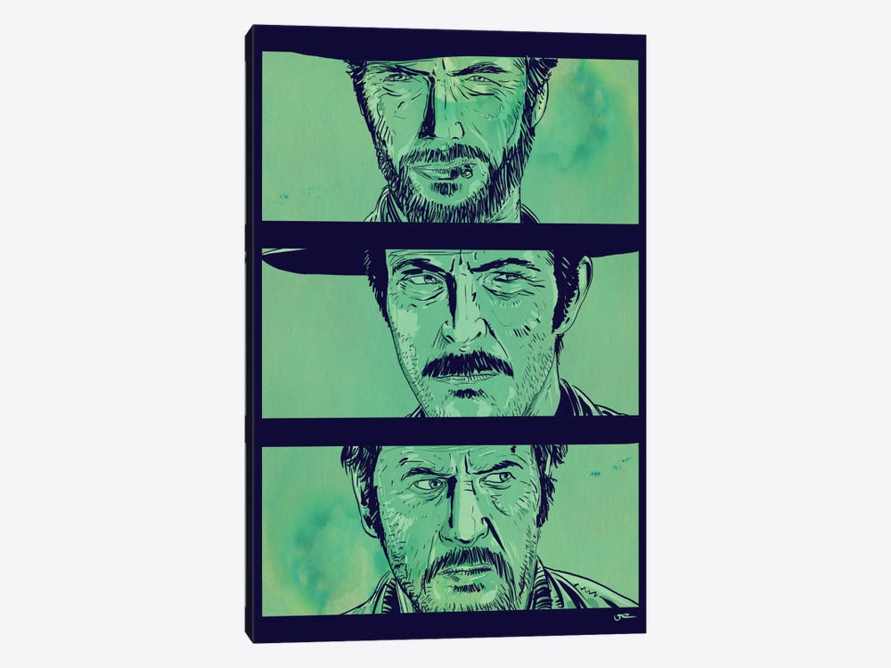 The Good, the Bad and the Ugly by Giuseppe Cristiano 1-piece Canvas Print