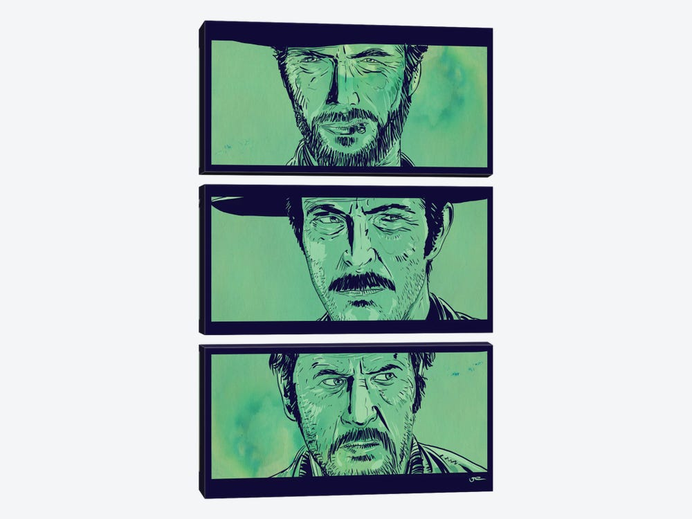 The Good, the Bad and the Ugly by Giuseppe Cristiano 3-piece Canvas Art Print