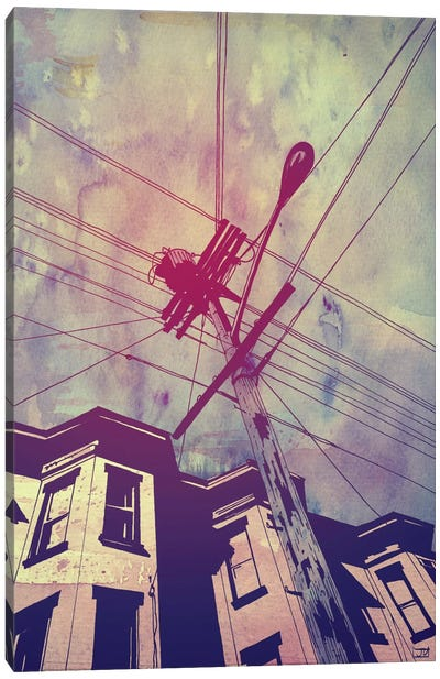 Wires Canvas Art Print