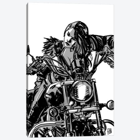 Biker Girl Canvas Print #JCR83} by Giuseppe Cristiano Canvas Art