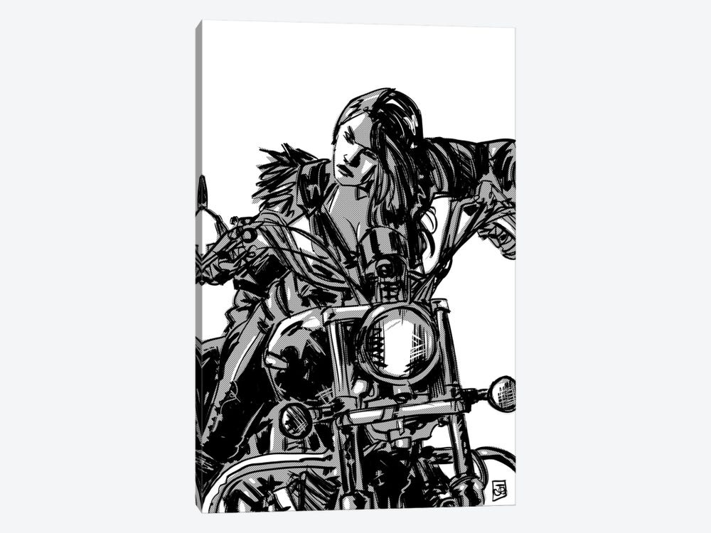 Biker Girl by Giuseppe Cristiano 1-piece Canvas Artwork
