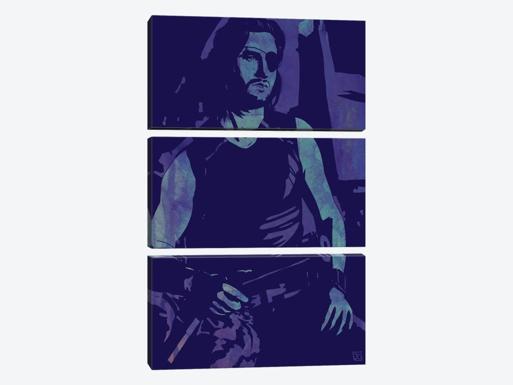 Escape From New York: Snake Plissken by Giuseppe Cristiano 3-piece Art Print