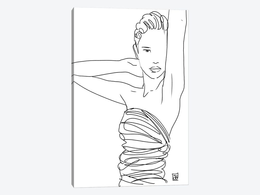 Line Art Lady by Giuseppe Cristiano 1-piece Canvas Art