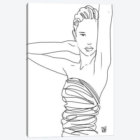 Line Art Lady Canvas Print #JCR85} by Giuseppe Cristiano Art Print
