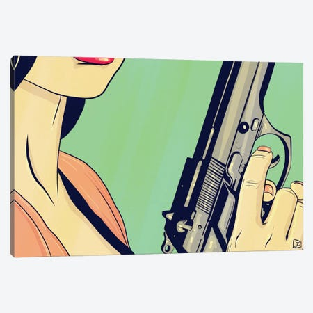 Danger Lady Canvas Print #JCR8} by Giuseppe Cristiano Art Print