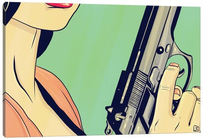 Danger Lady Canvas Print #JCR8