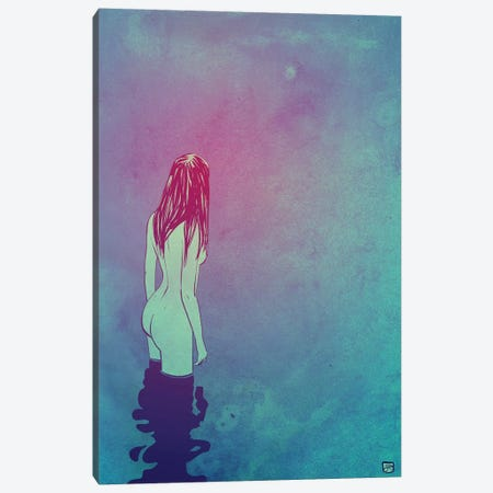 Skinny Dipping Canvas Print #JCR96} by Giuseppe Cristiano Canvas Wall Art