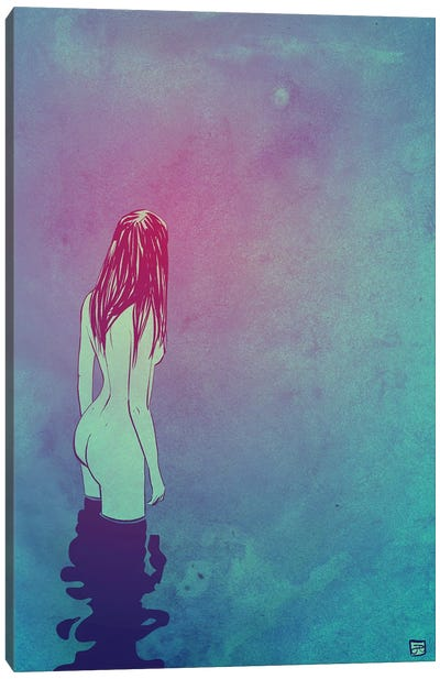 Skinny Dipping by Giuseppe Cristiano Canvas Art Print