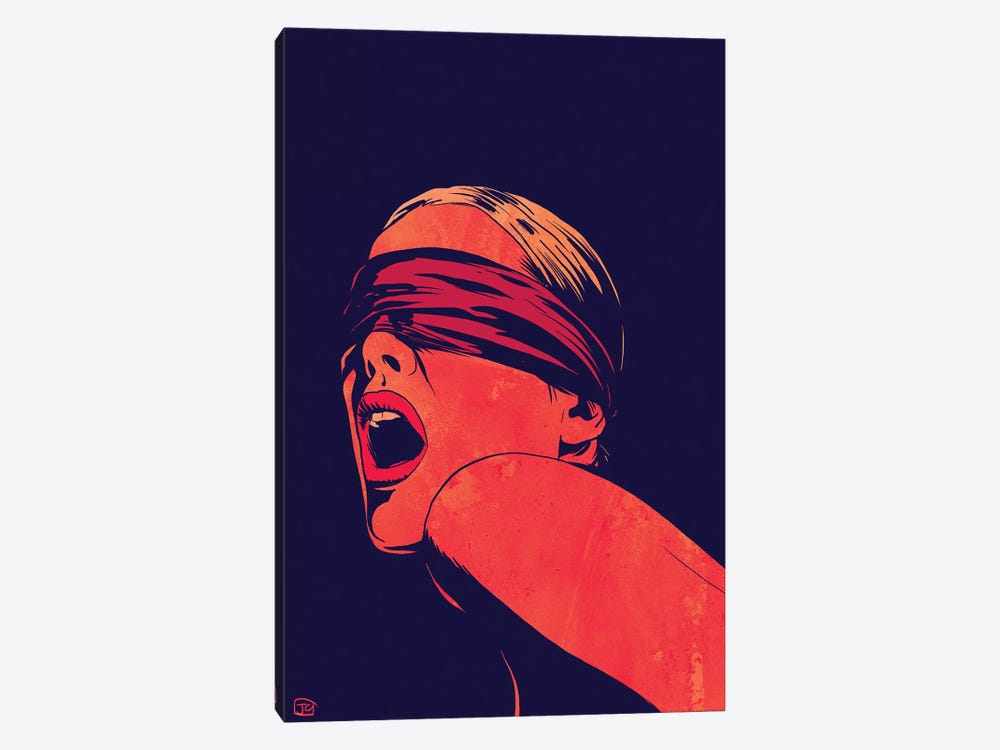 Blindfolded by Giuseppe Cristiano 1-piece Canvas Print