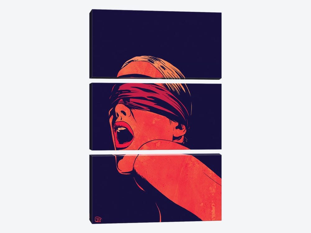 Blindfolded by Giuseppe Cristiano 3-piece Art Print