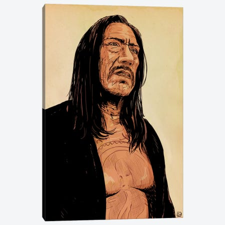 Danny Trejo Canvas Print #JCR9} by Giuseppe Cristiano Art Print