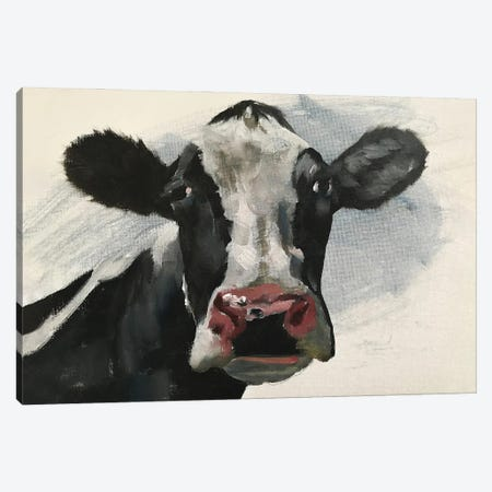 Pink Nose Cow Canvas Print #JCT103} by James Coates Canvas Wall Art