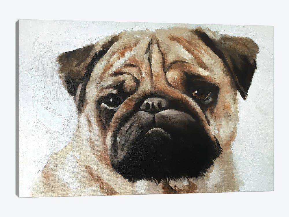 Pug Dog by James Coates 1-piece Canvas Wall Art