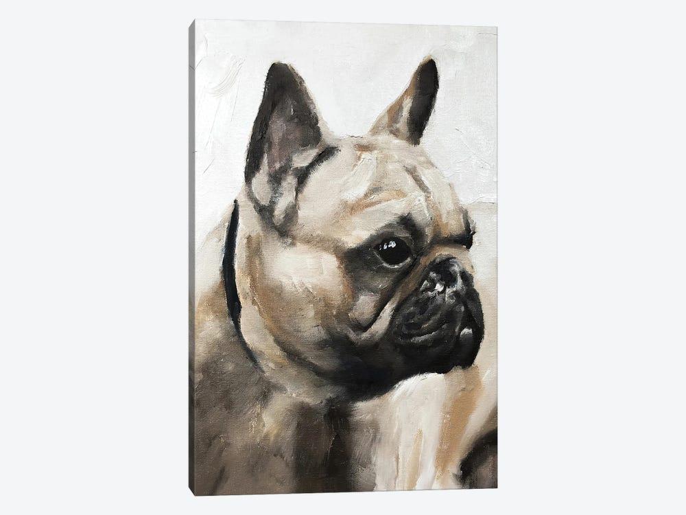 Serious Pug by James Coates 1-piece Canvas Art Print