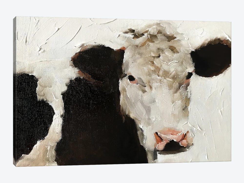 Angry Cow by James Coates 1-piece Canvas Art Print