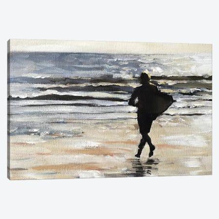 Surfer Canvas Print #JCT123} by James Coates Canvas Artwork