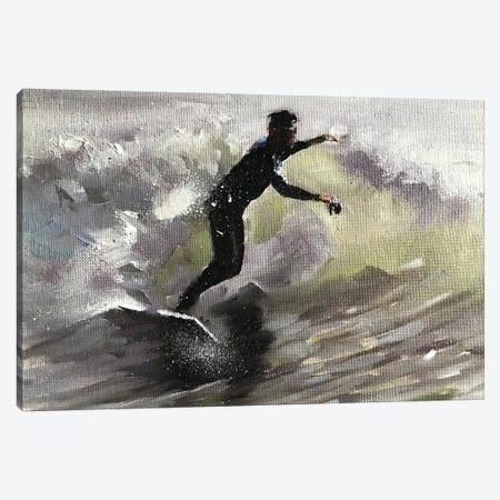 Surfing Canvas Print #JCT124} by James Coates Art Print