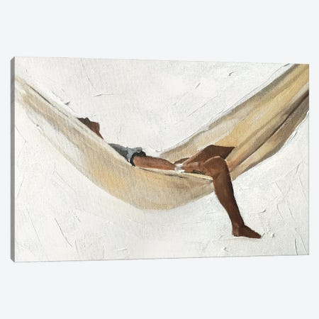 Swinging In A Hammock Canvas Print #JCT126} by James Coates Canvas Print