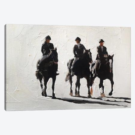 Three Horse Riders Canvas Print #JCT129} by James Coates Canvas Art