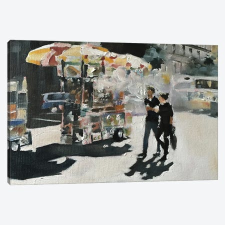 Walk In The City Canvas Print #JCT134} by James Coates Canvas Art