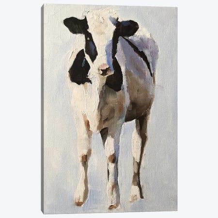 Portrait Of A Cow Canvas Print #JCT136} by James Coates Canvas Artwork