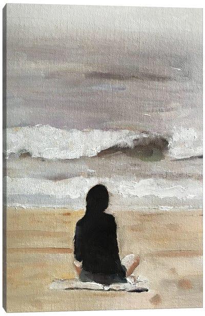 Beach Meditation Canvas Art Print