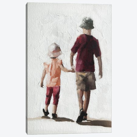 Brother And Sister Canvas Print #JCT25} by James Coates Art Print