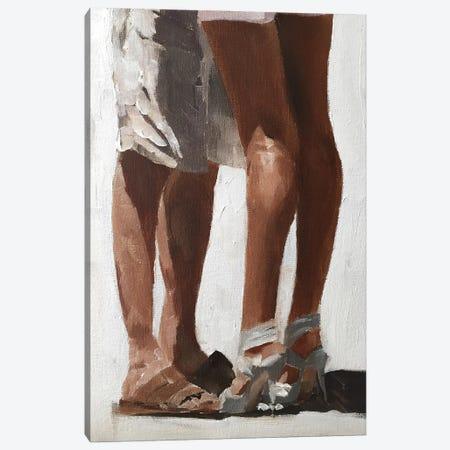 Couple Embracing Canvas Print #JCT38} by James Coates Art Print