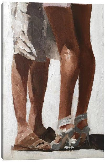 Couple Embracing Canvas Art Print