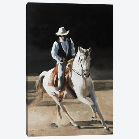 Cow Boy Canvas Print #JCT45} by James Coates Canvas Art Print