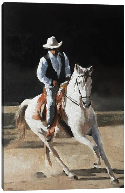 Cow Boy Canvas Art Print