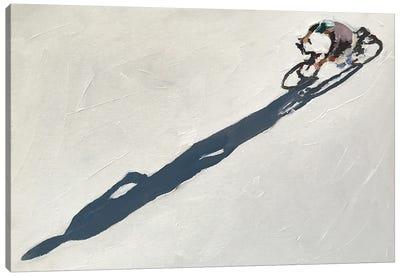 Cyclist Shadow Canvas Art Print