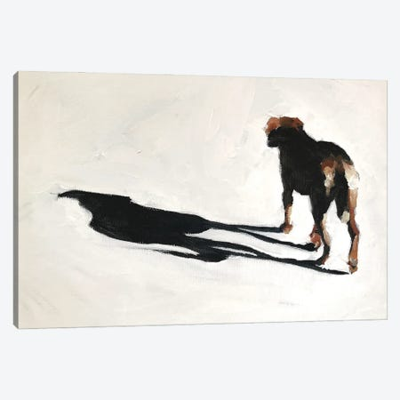 Dog And Shadow Canvas Print #JCT54} by James Coates Canvas Art