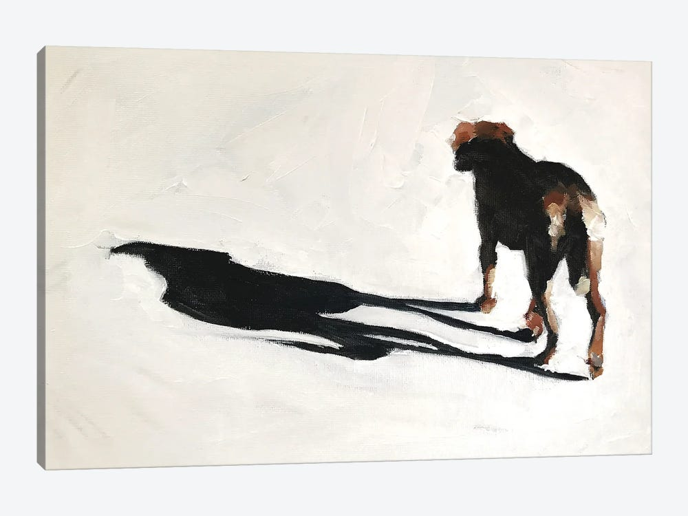 Dog And Shadow by James Coates 1-piece Canvas Art