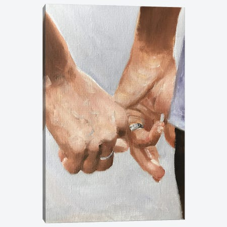 Hands Together Canvas Print #JCT65} by James Coates Canvas Art Print