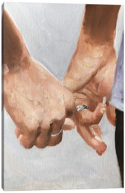 Hands Together Canvas Art Print