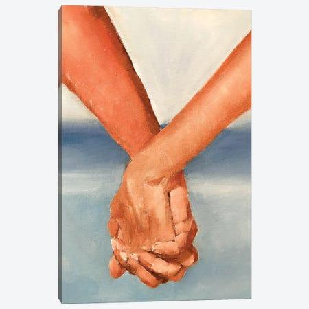 Holding Hands Canvas Print #JCT72} by James Coates Canvas Art Print