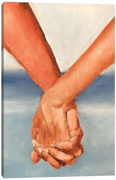 Holding Hands Canvas Art Print