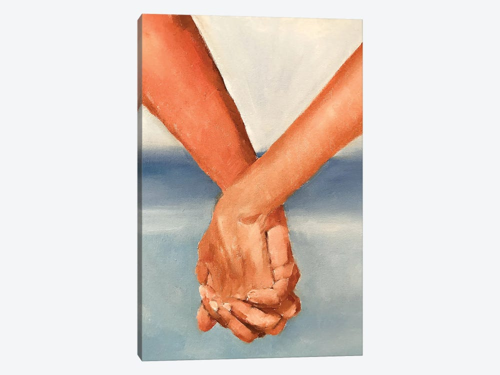 Holding Hands by James Coates 1-piece Canvas Art