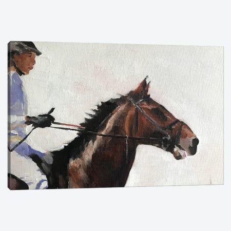 Horse Rider Canvas Print #JCT75} by James Coates Canvas Artwork