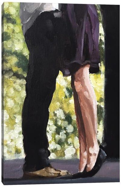 Hugging Canvas Art Print