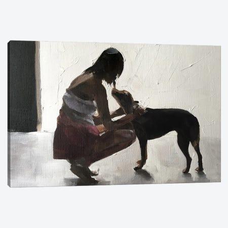 I Love You Doggy Canvas Print #JCT78} by James Coates Art Print