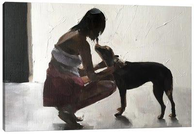 I Love You Doggy Canvas Art Print